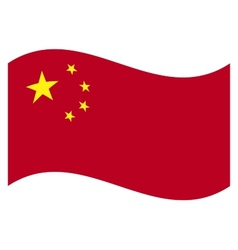 flag China vector image