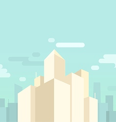 Flat cityscape and skyscrapers background vector