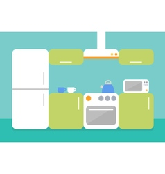 Flat design of kitchen vector image