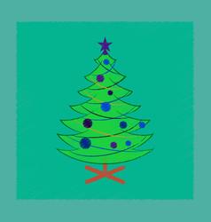 Flat shading style icon christmas tree vector