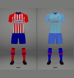 football kit 2018-19 shirt template for soccer vector image