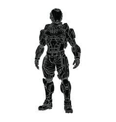 Futuristic design of a space suit with high detail vector