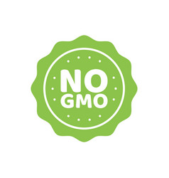 gmo free emblems vector image