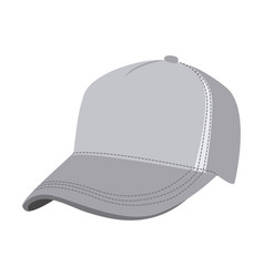Grayscale silhouette with baseball cap vector