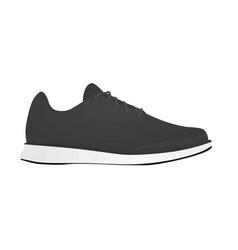 Grey sneaker vector