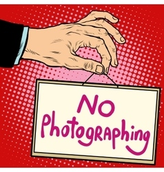Hand sign no photorgaphing vector image