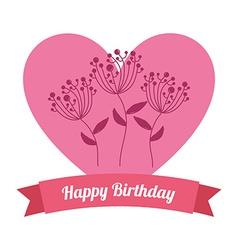 happy birthday vector image