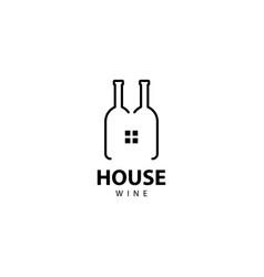 House wine logo icon vector