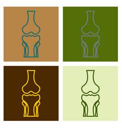 human knee joint bone icon health medical vector image