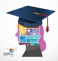 infographic Template Graduation cap vector image