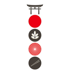 Japan Icon set vector image