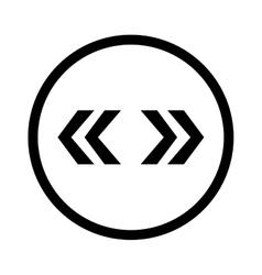 left right arrows vector image