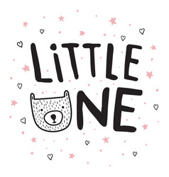 little one bear vector image