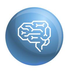 machine brain icon outline style vector image