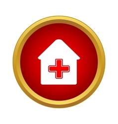 Medical house icon simple style vector
