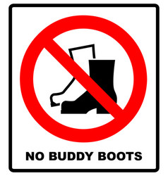 no muddy boots symbol rain boots prohibition sign vector image