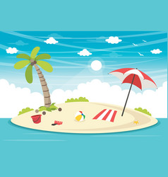 of summer elements vector image