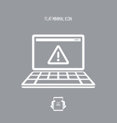 pc alert - flat minimal icon vector image