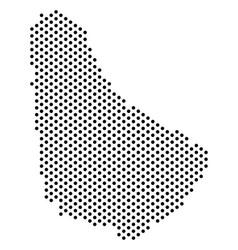 Pixel barbados map vector
