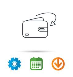 Receive money icon cash wallet sign vector