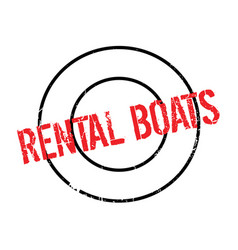 rental boats rubber stamp vector image