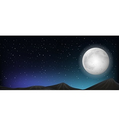 Scene with fullmoon at night vector