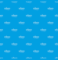 seaknot pattern seamless blue vector image