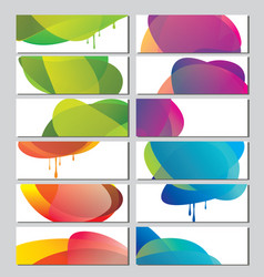 set banners with abstract color circle shapes vector image