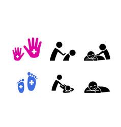 set massage icon vector image