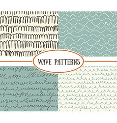 Set of wave seamless patterns background Great for vector
