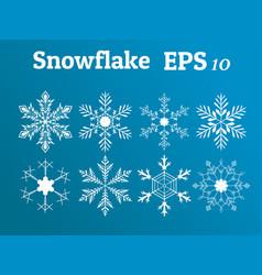 Snowflake collection winterchrismasnew year vector