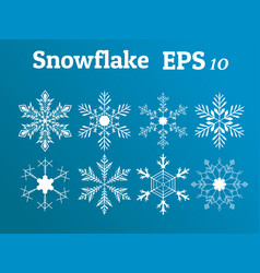 Snowflake collection winterchristmasnew year vector