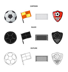 Soccer and gear symbol set vector