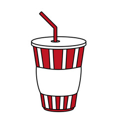 Soda cup design vector