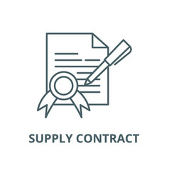 Supply contract line icon linear concept vector