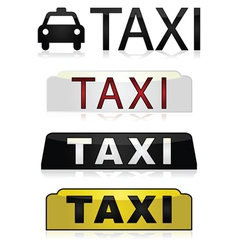 Taxi signs vector