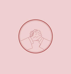 the handshake vector image