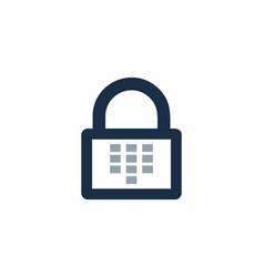 Touch security logo icon design vector