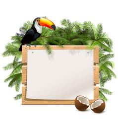 tropics wooden frame vector image