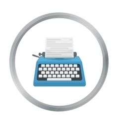 Typewriter icon in cartoon style isolated on white vector