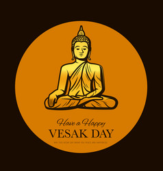 Vesak day buddha holiday buddhism religion vector