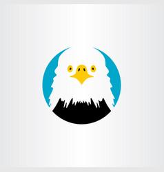 white head eagle icon logo symbol vector image