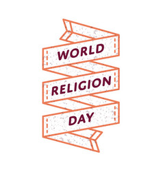 World religion day greeting emblem vector