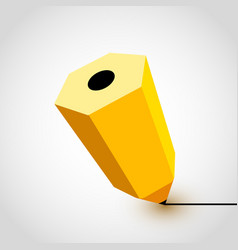 yellow pencil icon on white background vector image