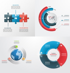 3 steps infographic templates Business concept vector image vector image