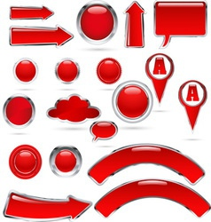 red metal glass kolekcija bre vector image