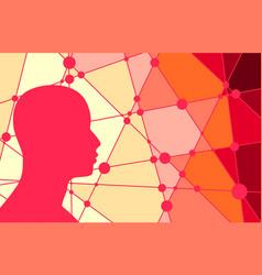 Silhouette of a man head vector