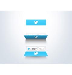social media follow button and counter vector image