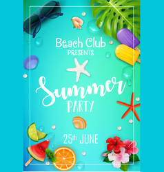 summer party poster design vector image