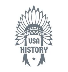 Usa history logo simple style vector